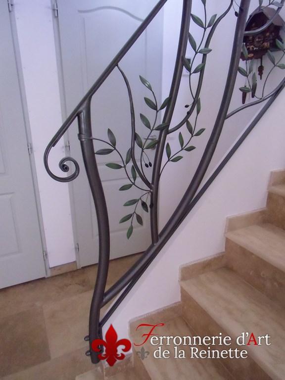 rampe escalier et garde corps en fer forge olivier fr jus ferronnier var 83 ferronnerie d. Black Bedroom Furniture Sets. Home Design Ideas