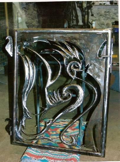 portillon coq en fer forg ollioules ferronnier var. Black Bedroom Furniture Sets. Home Design Ideas
