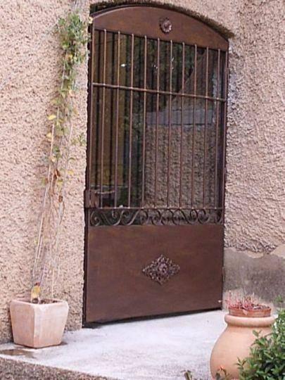 Porte En Fer Et Verre