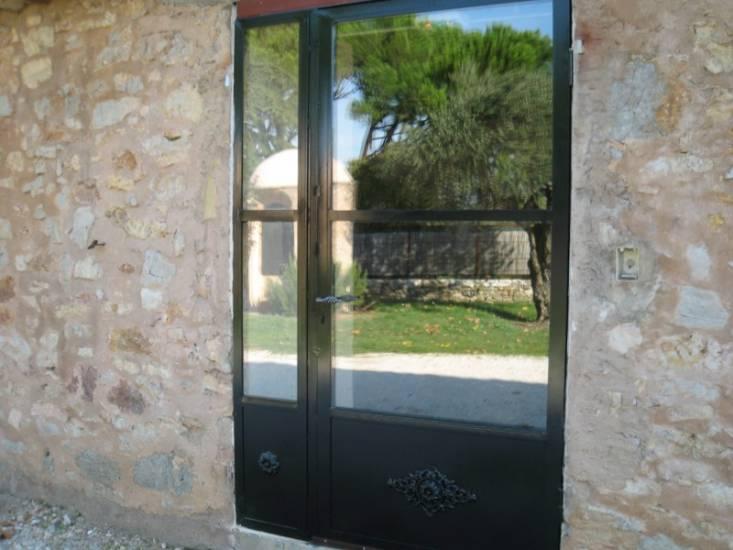 Baie vitrée en fer forgé double vitrage sur mesure - Ferronnier Var 83 - Ferronnerie d'Art la ...