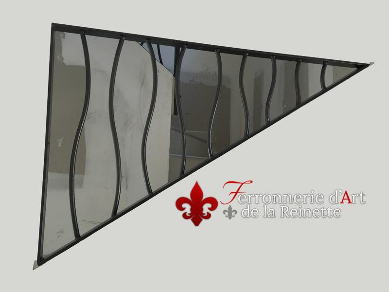 Rampe d 39 escalier moderne sur mesure hy res ferronnier var 83 ferronnerie d 39 art la reinette - Ferronnerie d art moderne ...