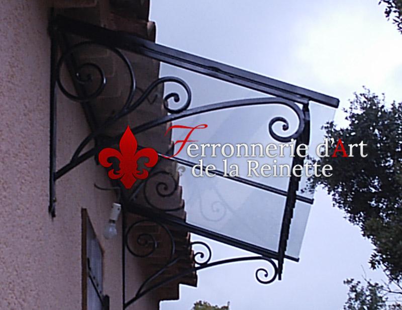 Marquise en fer forg et verre toulon ferronnier var 83 ferronnerie d - Marquise fer forge pas cher ...