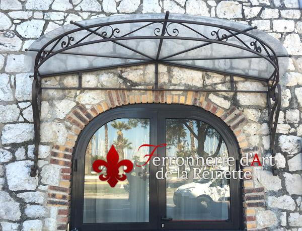Marquise En Verre Et Fer Forgé Restaurant Aix En Provence - Marquise de porte ancienne