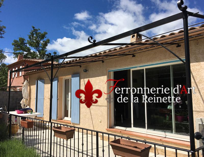 Pergola En Metal Fer Forge Petit Budget Pas Cher Fabrication Venelles 13 Ferronnerie D Art La Reinette