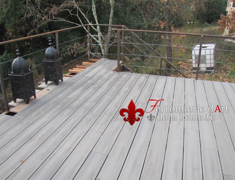 Terrasse Sur Pilotis Structure Metal A Hyeres Ferronnier Var 83
