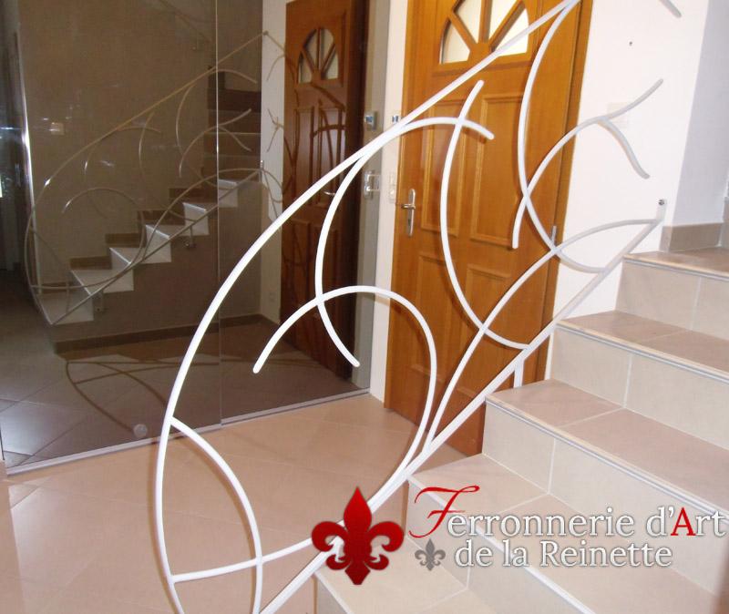 Rampe d 39 escalier en fer forg peint toulon ferronnier - Ferronnerie d art moderne ...