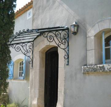 marquise fer forg a aix en provence ferronnier var 83 ferronnerie d 39 art la reinette. Black Bedroom Furniture Sets. Home Design Ideas