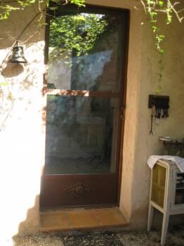 Porte d 39 entr e anti effraction en fer forg et verre sp10 ferronnerie d 39 art la reinette - Porte d entree anti effraction ...