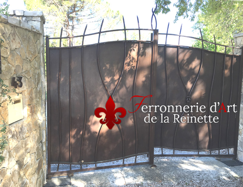 fabrication portail fer forge aix en provence 13