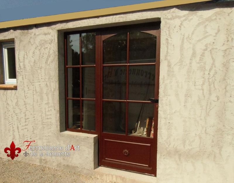 R alisation de porte d 39 entr e sur mesure brignoles for Porte double vitrage