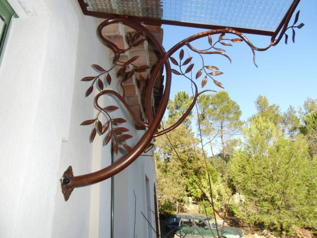 marquise en fer forg style olivier a hy res ferronnier var 83 ferronnerie d 39 art la reinette. Black Bedroom Furniture Sets. Home Design Ideas