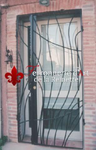 grille de porte d 39 entr e art d co aix en provence ferronnier var 83 ferronnerie d 39 art la. Black Bedroom Furniture Sets. Home Design Ideas
