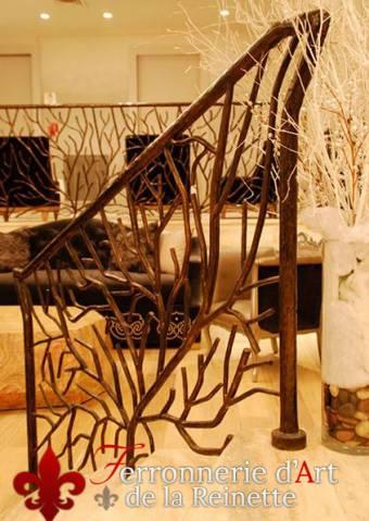 rampes d 39 escaliers en fer forg sur mesure ferronnier var 83 ferronnerie d 39 art la reinette. Black Bedroom Furniture Sets. Home Design Ideas